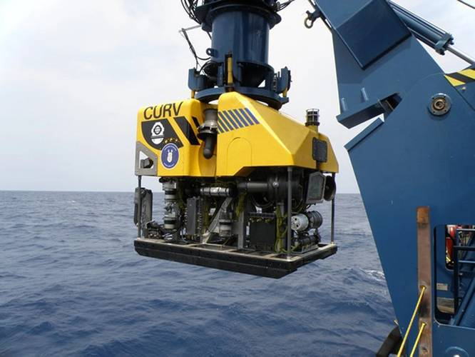 CURV-21 is a 6,400-pound Remotely Operated Vehicle (ROV) that is designed to meet the US Navy's deep ocean salvage requirements down to a maximum depth of 20,000 feet of seawater. This vehicle is loaded with a host of new technologies and was built as a direct replacement for CURV-III but with a smaller overall system footprint.