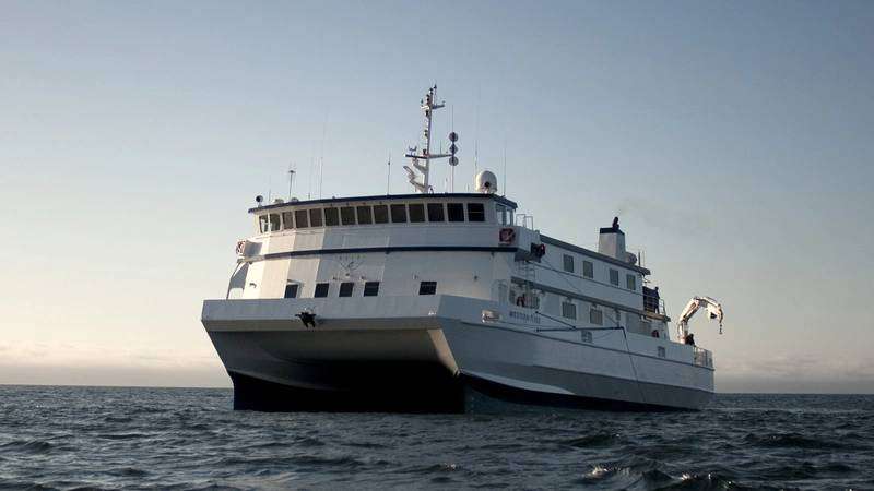 The R/V David Packard will replace MBARI's current flagship research vessel, the R/V Western Flyer, which will be retired in fall 2022. Photo: © 2021 MBARI