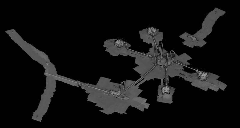 Digital twin model of subsea oil field. Image courtesy VOYIS