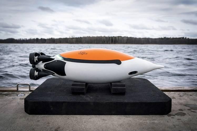 Evologics Quadroin penguin inspired underwater vehicle. Image courtesy Hereon - Florian Büttner.