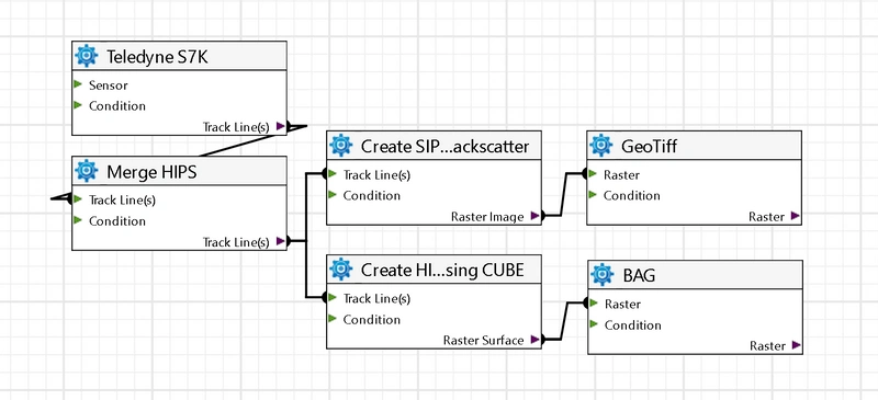 Example of a Process Designer workflow (Image: Teledyne CARIS)