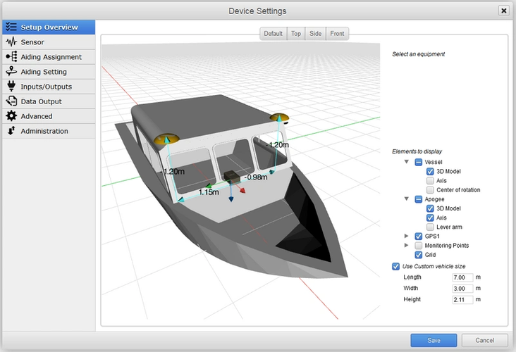 An example of the 3D view (Image: SBG Systems)