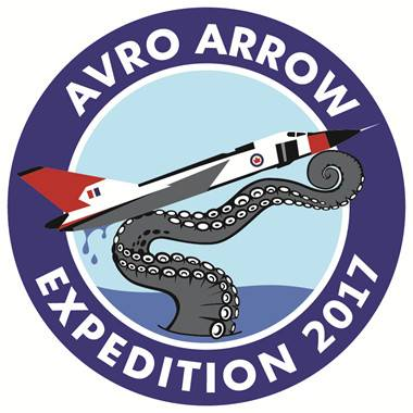 Expedition patch for Avro Arrow 2017 search (Image: Kraken)