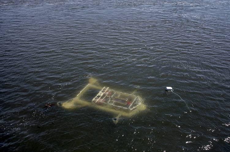 FAST-1 platform in shallow water (Image: Darren Pitmann/ImagesEast)