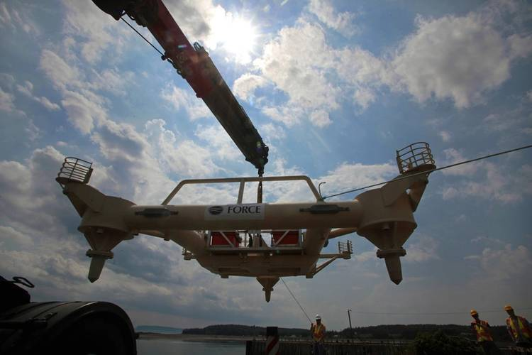 FAST-1 platform transported to Parrsboro Harbour (Image: Darren Pitmann/ImagesEast)