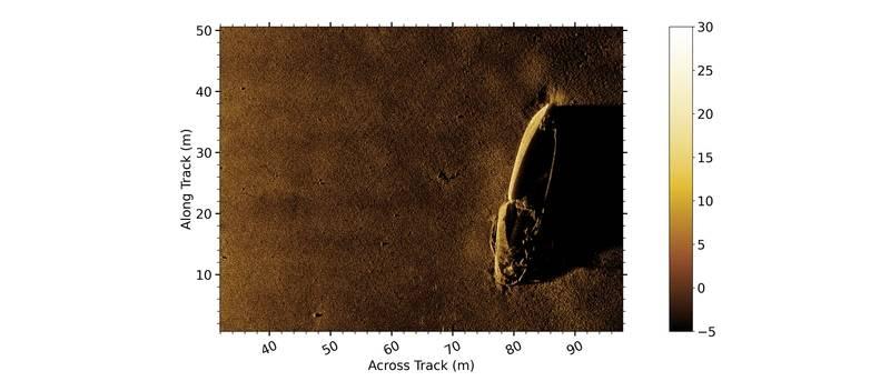 Figure 3 Detail of trawler lost during WW2. Image Teledyne Gavia/Kraken