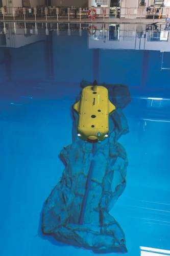 FlatFish at the Robotics Innovation Center test tank in Bremen (Image: DKFI)