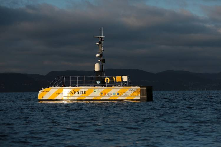 GEBCO-NF Alumni is integrating existing technologies and ocean-mapping experience with an innovative unmanned surface vessel to contribute towards comprehensive mapping of the ocean floor by 2030. (Photo: Anders Jørgensen)