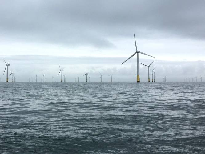 The Gwynt Y Mor wind farm. Photo from Rovco.