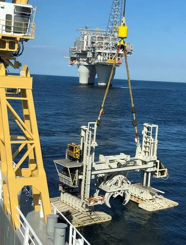 The H-Frame used to install the 36in spool. Source: Equinor.
