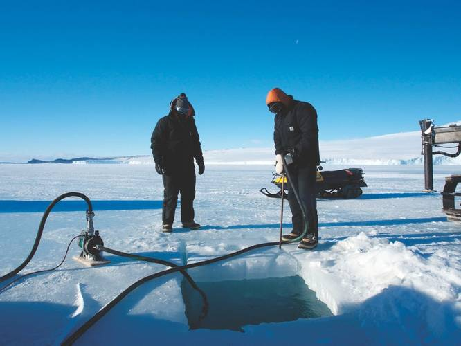 An Ice Hole for deploying an AUV in this climate. (Photo: Australian Maritime College)