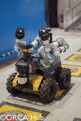 Hub-89: The Heriot-Watt University wheeled Husky robot used to demonstrate practical self-certification as part of an offshore inspection mission. CUTHub 201