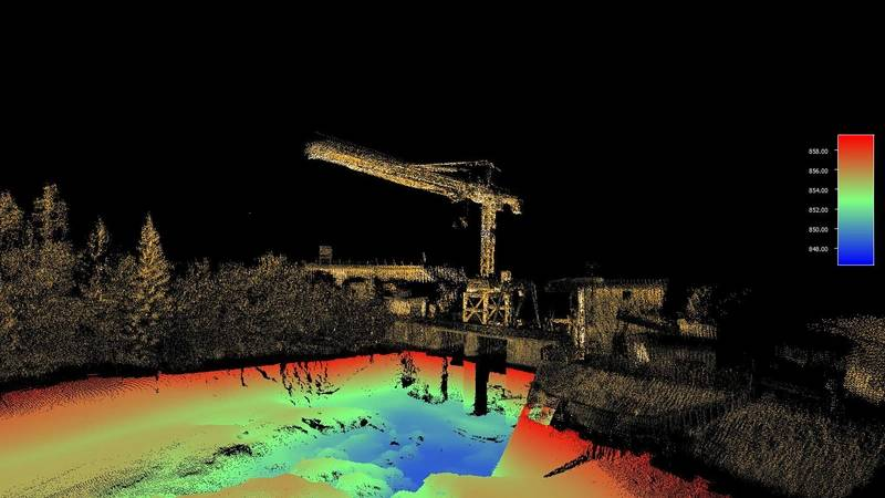 The iLiDAR system conducts 3D data capture of intricate measurements of inshore, nearshore and inland waterways from up to 100 meters away. © Seabed