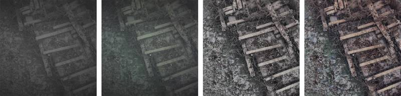 An image of a shipwreck going through Voyis' automated image enhancements and corrections. Image courtesy Voyis