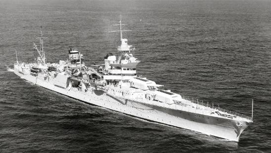 USS Indianapolis Underway September 27, 1939 (Navy photo 80-G-425615)