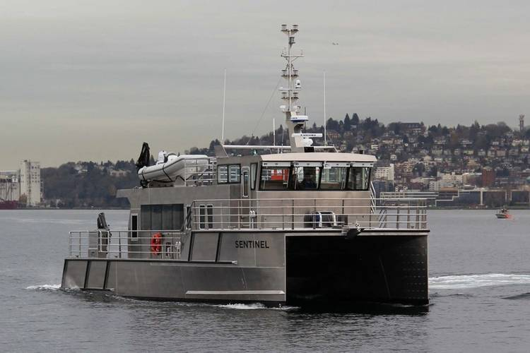 The innovative and efficient Incat Crowther design will ensure Sentinel will be on the job for decades (Photo: Vigor)