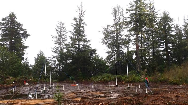 Installation of the transmit array (Photo: ASL Environmental Sciences)