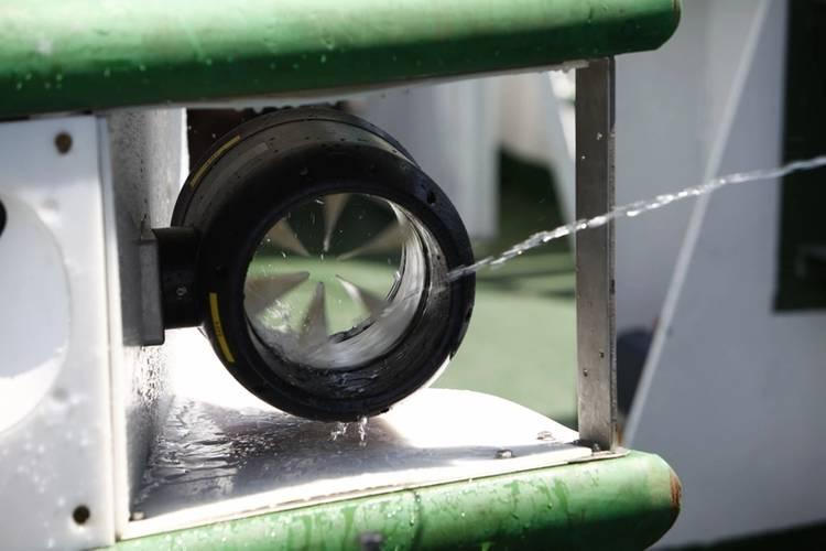 Installed thruster during shipdeck prelaunch check (Photo: Copenhagen Subsea)