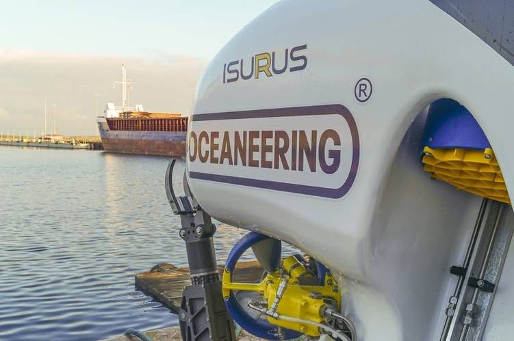 Isurus is based on Oceaneering's Magnum Work Class ROV system with a hydrodynamic design. Photo courtesy Oceaneering