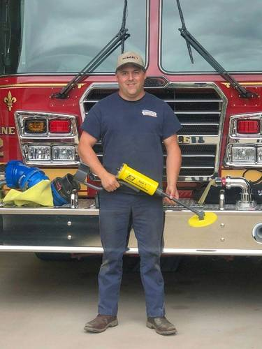 Kevin Langley of the Grosse Ile Fire Department (Photo: JW Fishers)
