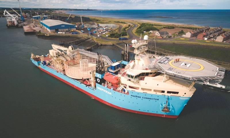 Maersk Connector: DeepOcean's state of the art cable lay vessel. (Photo: DeepOcean)