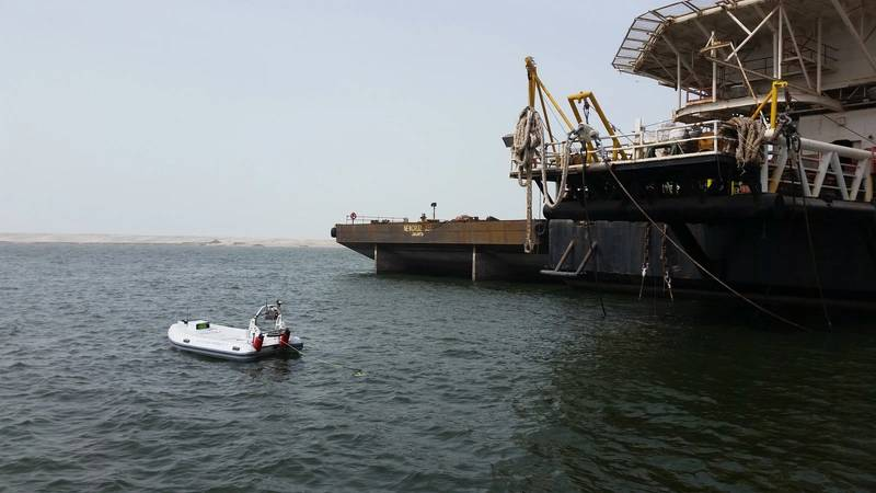 Marine Tech has supplied RSV-ROV systems to IMODCO for CALM buoy inspection operations. Photo from IMODCO.