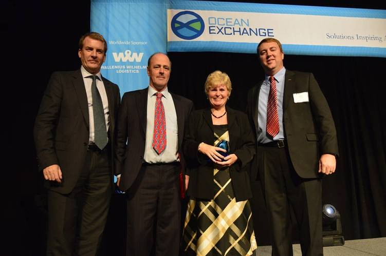 Martin and Mairi Wickett receiving the Ocean Exchange Award (Photo: WITT Ltd.)