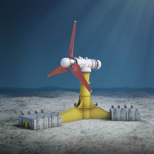 The Meygen tidal stream energy project.   (Credit: Atlantis Resources Ltd.)