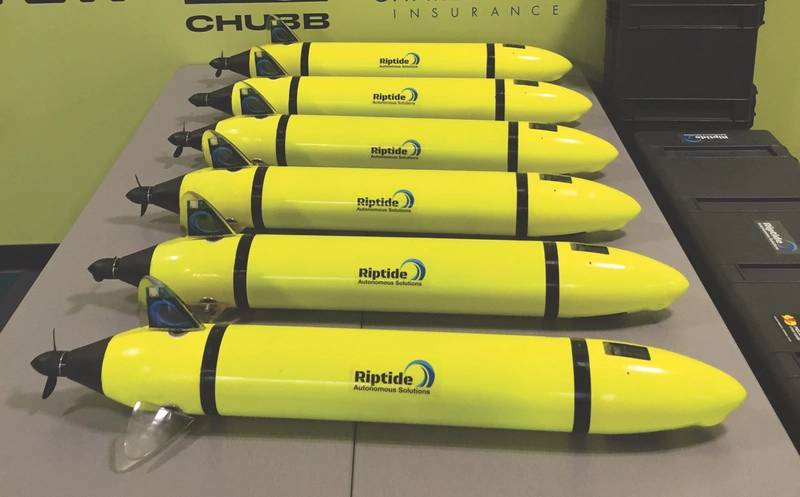 Six micro-UUVs ready for delivery (Photo: Riptide)