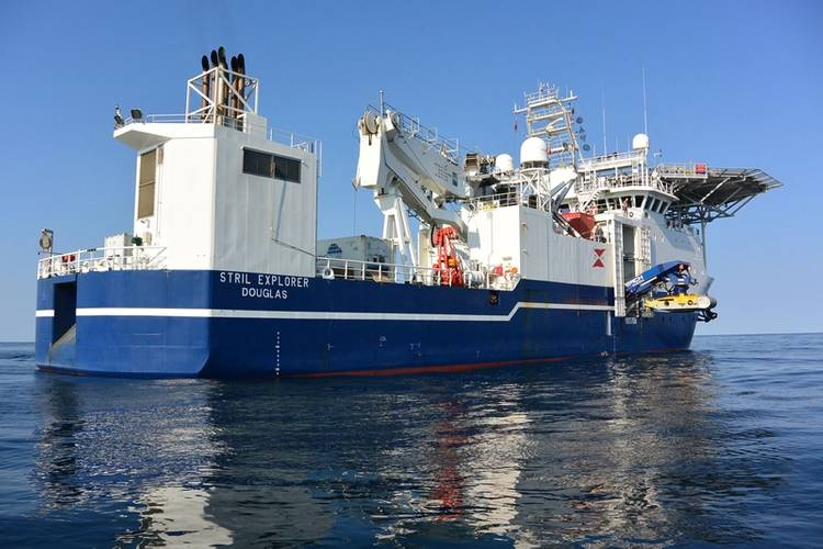 MMTs chartered vessel Stril Explorer was used in this project. ©MMT