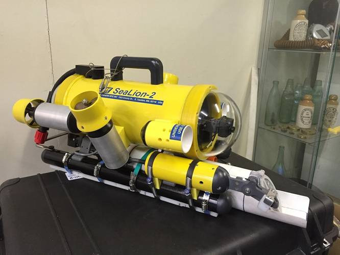 An ROV modified for shell collecting. Photo: JW Fishers