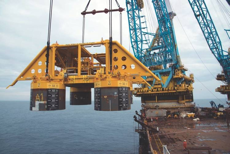More activity: a subsea manifold lowered offshore Norway (Photo: Photo: Oyvind Hagen, Statoil)