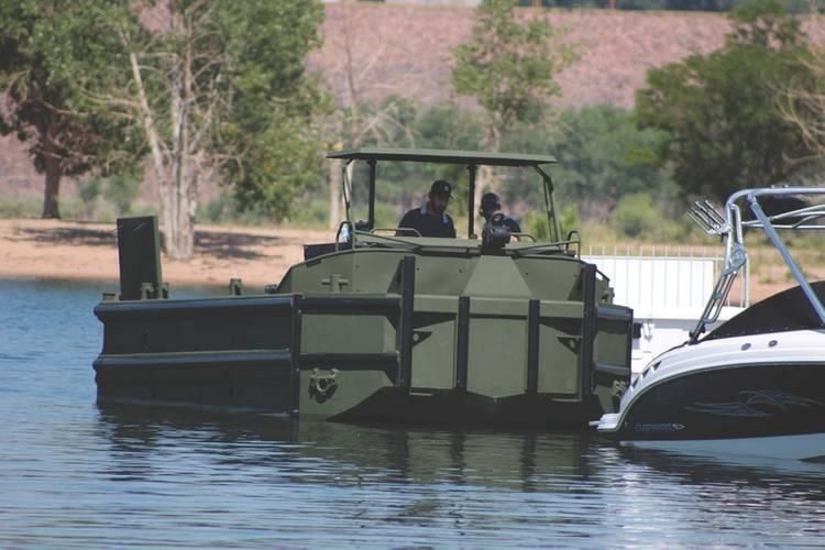 NAMJet iNAV, a Greensea Vessel control system, is tested on a Birdon Marine workboat. (Photo: Greensea)