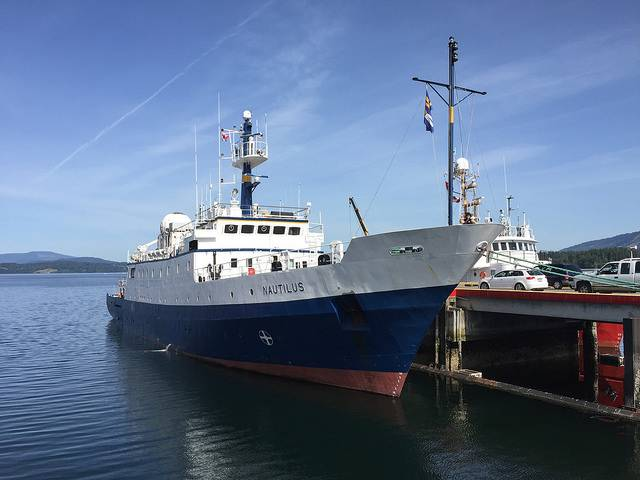 E/V Nautilus docked at Institute for Ocean Sciences (Photo: ONC)