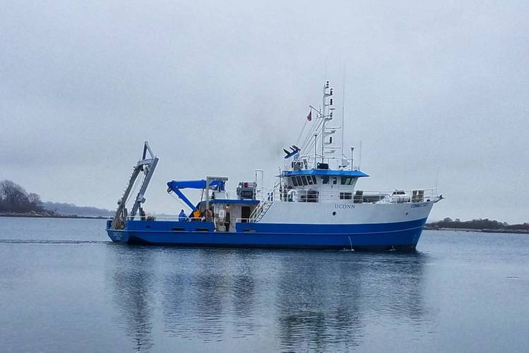 The newly lengthened R/V Connecticut is now underway with a full slate of missions through midyear (Photo: Glosten)