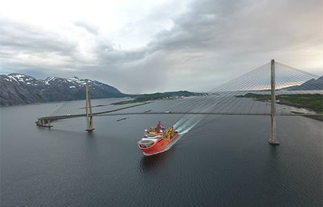 Normand Oceanic heading for the Aasta Hansteen field to install spools.  (Photo: Statoil)