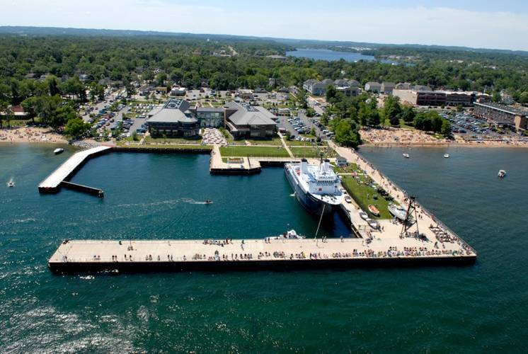 Northwestern Michigan College has its own large docking facility – which can be used for dockside launching of the Falcon. (Image: Saab Seaeye)