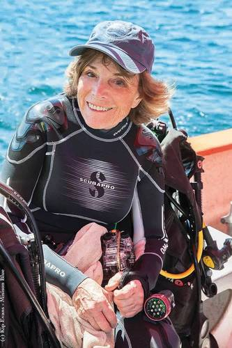 Number 6 is Dr. Sylvia Earle. (Photo Courtesy Kip Evans)