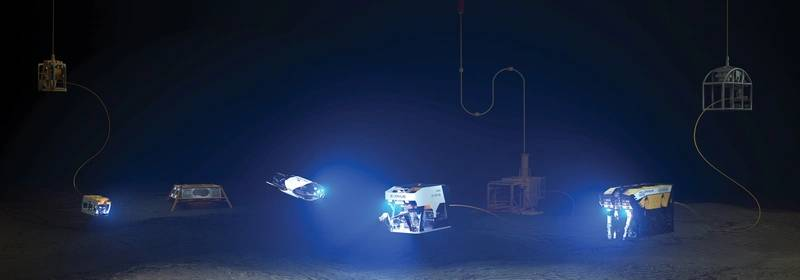 Oceaneering's ROV line-up with next-generation vehicles Freedom and E-ROV included. Courtesy of Oceaneering International