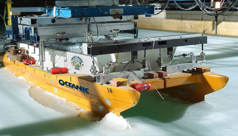 Oceanic Consulting Limited –  Numeric testing in World's Longest Ice Tank.