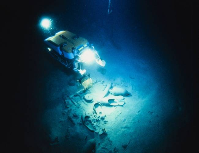 Once we launched 1.5-ton Jason off the deck of the mother ship, the remotely operated vehicle went to work, shining a light on Mediterranean Sea artifacts dating back thousands of years, including the ancient shipwreck we dubbed Isis. (Photos Courtesy of Robert Ballard)