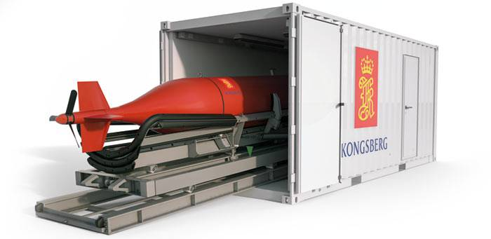 As part of the exclusive package, the HUGIN AUV will be delivered with its own stinger and storage and shipping container (Image: Kongsberg)