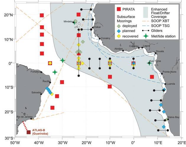 The PIRATA Monitoring Array, Tropical Atlantic Ocean