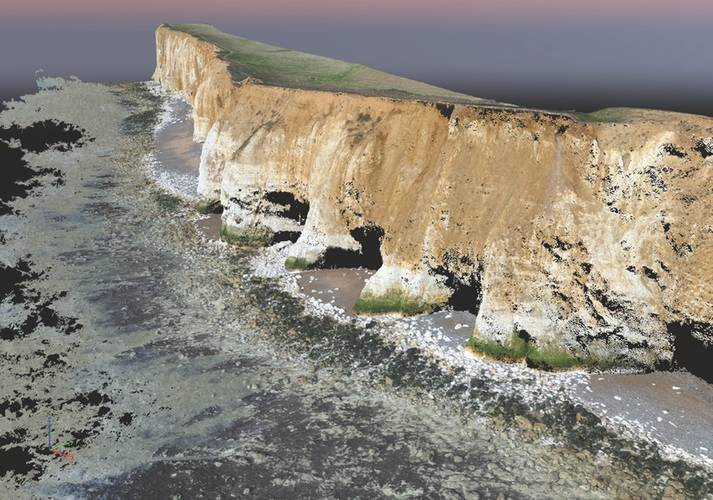 UAV Point cloud of cliffs near Newhaven