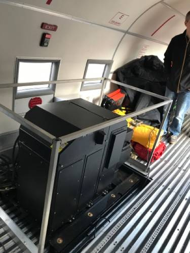The remote sensing platforms inside the JALBTCX aircraft. Credit: USACE.