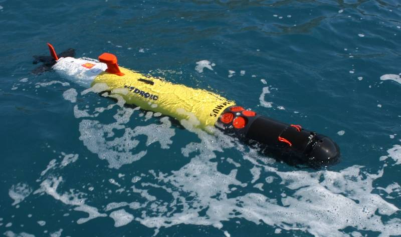 A REMUS vehicle shows the traditional four element DVL array (Photo Courtesy Hydroid)