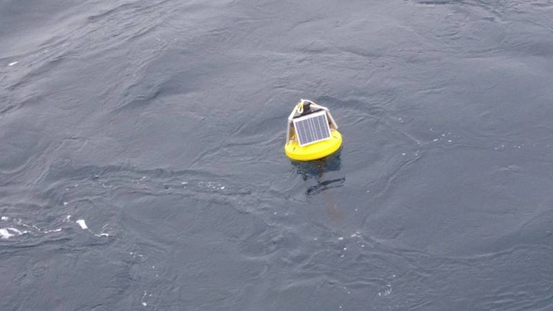 RockBLOCK has been integrated on specially developed wave buoys deployed on to sea ice floes in the Arctic and Antarctic by NIWA. (Photo: Rock Seven)