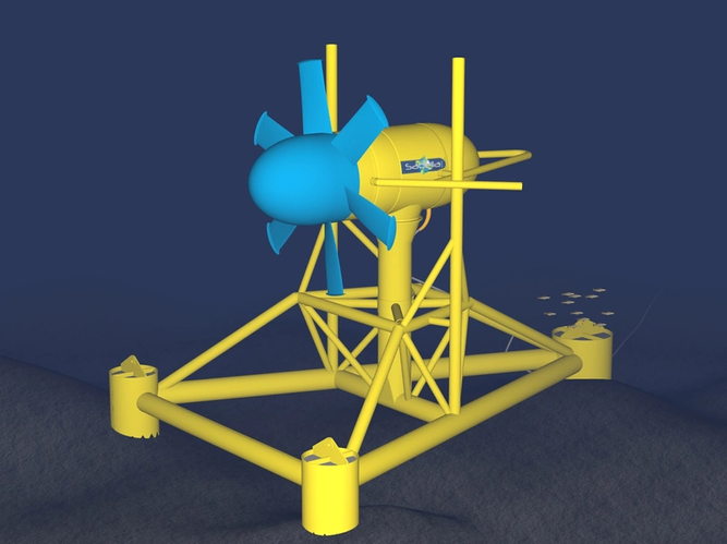 The Sabella D10 tidal stream turbine is interfaced by MacArtney connectivity (Image: MacArtney)