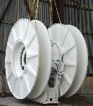 Sales slump: Gun winch  and fairlead seismic  array handling gear Courtesy Kongsberg Evotec