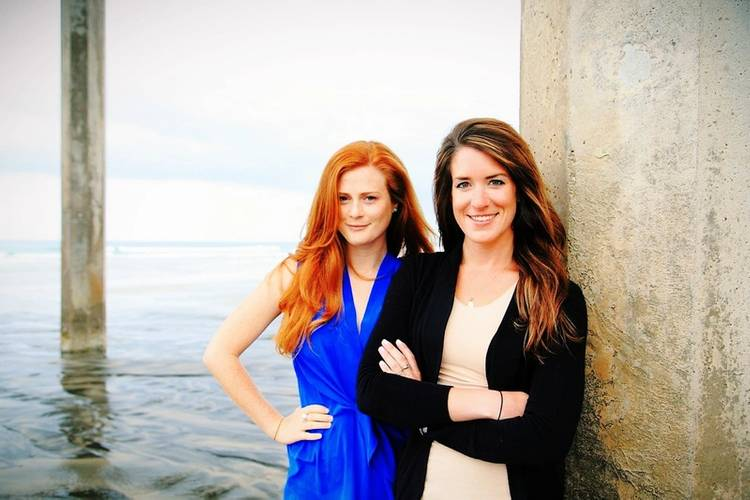 Scripps alumnae Amber Jackson and Emily Callahan. (Photo: Theresa Stafford / Black Hand Gallery)